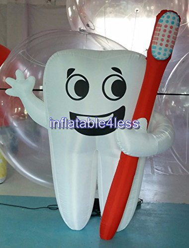 Inflatable4less Inflatable Tooth Advertising Dentist Ad Health Promotion Custom Made (6.5FT) by inflatable4less