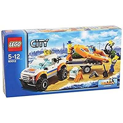 LEGO City 60012 4x4 and Diving Boat (Discontinued by manufacturer): Toys & Games