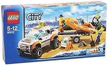 lego city 60012 jeu de construction le transporteur du bateau du garde - Lego City Bateau