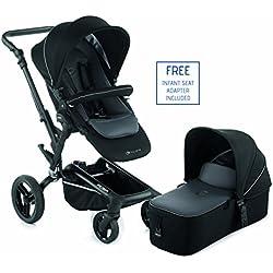 Jane Rider 2016 Premium Travel System Stroller - With Bassinet (Black)