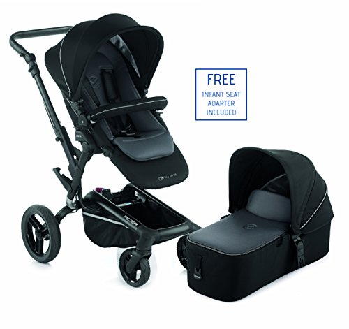 Jane Rider 2016 Premium Travel System Stroller - With Bassinet (Black)