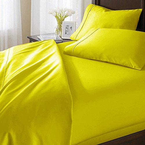 - Luxurious & Soft 100% Egyptian Cotton Sheet Set fits mattresses up to 18
