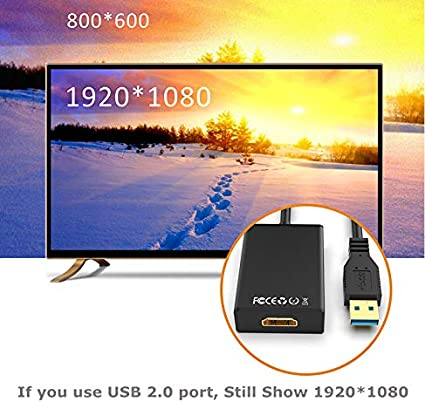 NO MAC /& VISTA - Dual Mode USB C to HDMI Adapter USB 3.0//2.0 to HDMI 1080P Full HD Video Audio Multi Monitor Converter Adaptor for PC Laptop Projector HDTV Compatible with Windows XP 7//8//8.1//10