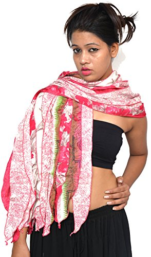 (Wevez Women's Lot of 5 Sari Fabric Handmade Mix Color Scarves, One Size, Assorted)
