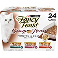 Purina Fancy Feast Gravy Lovers Gourmet Wet Cat Food - (24) 3 oz. Cans