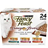 Purina Fancy Feast Poultry & Beef Feast Collection Cat Food – (24) 3 oz. Cans