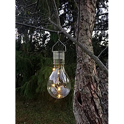 Outdoor hanging solar lights amazon hanging solar light bulb with s hook by industrial rewind aloadofball Images