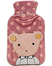 700ML Classic Rubber Hot Water Bottle + Lovely Soft Cover, Cover May Random