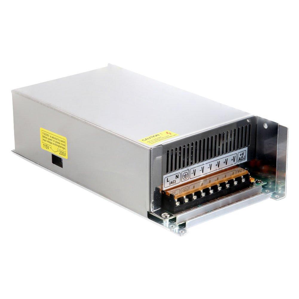 Transformateur de tension, adaptateur de courant d'alimentation de commutateur Lanceasy DC 12V 60A 720W Transformateur de tension pour boîtier métallique pour la lumière de bande menée