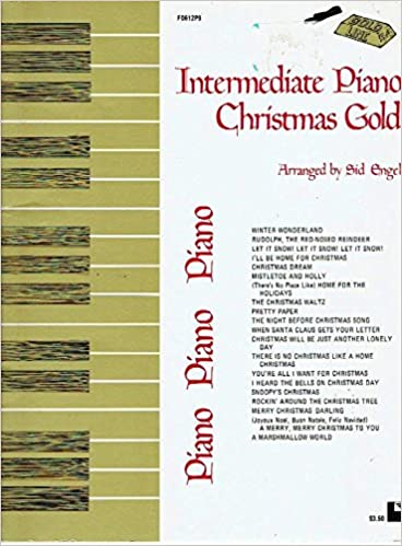 Rockin Around The Christmas Tree Piano Letters.Intermediate Piano Christmas Gold Songbook Amazon Com Books