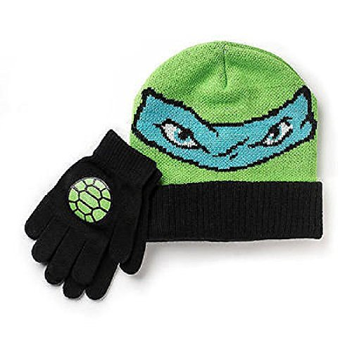 Teenage Mutant Ninja Turtles Hat and Gloves Set Boys One (Ninja Turtle Hats And Gloves)