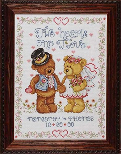 Design Works Counted Cross Stitch Kit Two Hearts Wedding Sampler ()