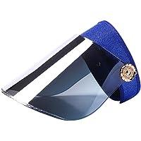 LIOOBO Cubierta Cara Sombrero para el sol Sombrero Visera para el sol Sombrero de protección contra los rayos ultravioletas para el verano Actividades al aire libre Gorra de béisbol para automóvil eléctrico para mujer (azul marino)
