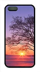 taoyix diy iPhone 5 5S Case landscapes nature sunset tree 11 TPU Custom iPhone 5 5S Case Cover Black