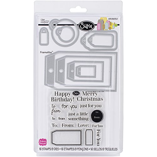 Framelits Stamp (Sizzix Tags Framelits Dies with Stamps by Stephanie Barnard, 9-Pack)