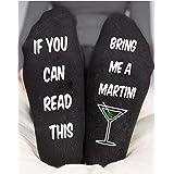 Martini Socks For Women's Funny Men's Birthday Christmas Gifts