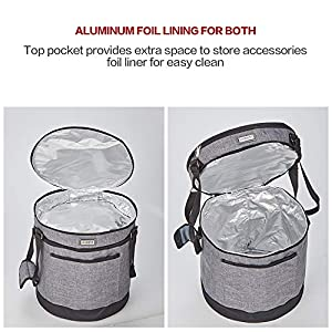 HOMEST-2-Compartments-Carry-Bag-Compatible-with-3-Quart-Instant-Pot-These-Pressure-Cooker-Travel-Tote-Bag-Have-Accessory-Pockets-for-Spoon-Measuring-Cup-Steam-Rack-Grey-Patent-Design