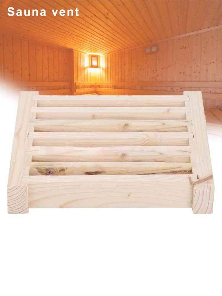 Evenlyao Wooden ventilation grille Sauna Wooden sauna Ventilation flap For sauna room equipment 33x13cm
