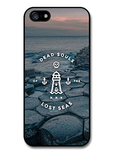 Dead Souls of the Lost Seas Quote on Cool Gloomy Landscape case for iPhone 5 5S