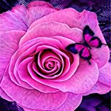 Fanyunhan DIY 5D Flowers Square Diamond Partial Drill Embroidery Paintings Rhinestone Pasted Painting Cross Stitch