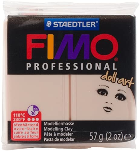 STAEDTLER 8029-435LU Fimo Professional Doll Art Clay 2oz-Opaque Cameo