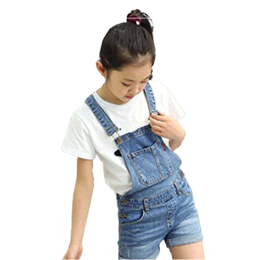 Digirlsor Kids Cotton Suspender Bib Overalls Little Girls Denim Romper Jumpsuit Boyfriend Jeans,3-8 Years