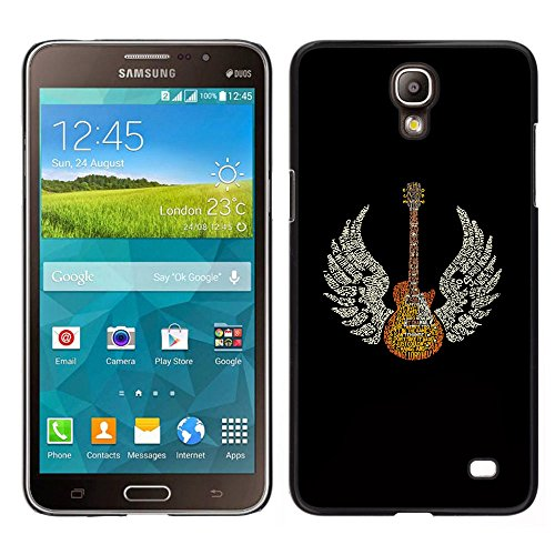 [Neutron-Star] Snap-on Series Coque de protection rigide Cas Case pour Samsung Galaxy Mega 2 [Ailes Guitar Musique Amour Ange Art rupestre Dieu ciel]