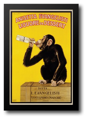 Anisetta Evangelisti (Monkey) 28x40 Framed Art Print