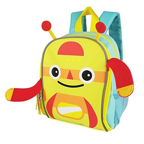 Zebrum Toddler Backpack Bag with Reflective Stripe and Mesh Side Pockets for Boys and Girls, Kids Backpack, Monster (Aqua & (Monster High Girl Names)