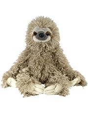 Wild Republic 12257 Sloth Plush, Soft Toy, Cuddlekins, 30 cm, Grey
