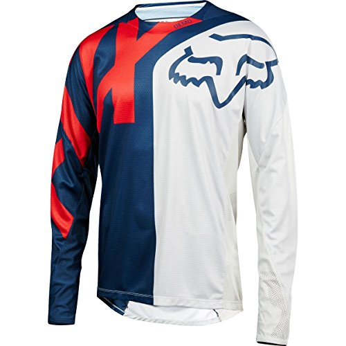 Fox Racing Demo Long-Sleeve Bike Jersey - Men's Blue/Red, M by Fox Racing