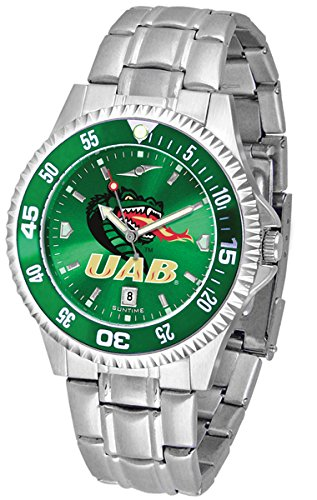 UAB Blazers Competitor Steel AnoChrome Color Bezel Men's Watch