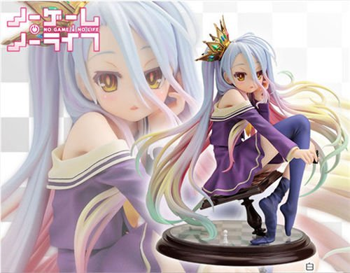Anime-Gift-NO-GAME-NO-LIFE-SHIRO-17-Scale-Action-Figure-Figurine-Toy-Doll-Model