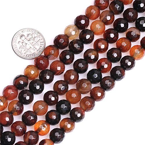 (10mm Natural Dream Fire Agate Beads Faceted Round Loose Gemstone Beads for Jewelry Making Strand 15 Inch (38-40pcs))