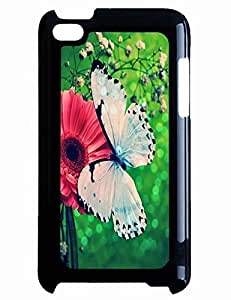 Handmade Phone Case White Butterfly On Red Daisy for Diy For Iphone 5C Case Cover