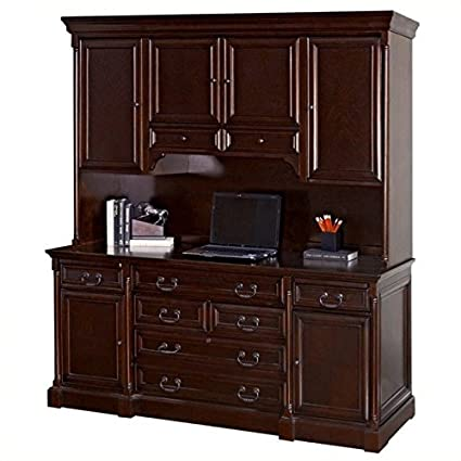 Beau Kathy Ireland Home By Martin Furniture Mount View Wood Credenza Desk With  Hutch In Cherry
