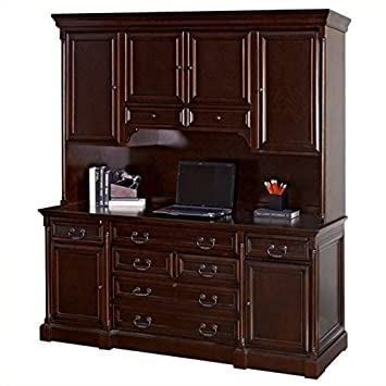 Awesome Kathy Ireland Home By Martin Furniture Mount View Wood Credenza Desk With  Hutch In Cherry