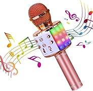 BlueFire 4 in 1 Karaoke Bluetooth Wireless Microphone with LED Lights, Portable Handheld Microphone Karaoke Ma
