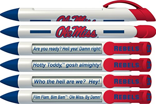Greeting Pen Ole Miss Rebels Braggin' Rights Rotating Message 6 Pen Set 20514