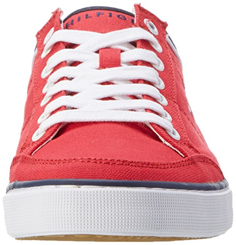 Tommy Hilfiger Herren Core Corporate Textile Sneaker Low-Top Rot (Tango Red 611)