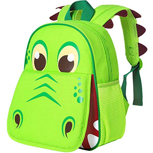 "Toddler Backpack for Boys, 12"" Dinosaur Preschool Bag"
