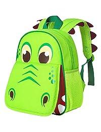 """Toddler Backpack for Boys, 12"""" Dinosaur Preschool Bag"""