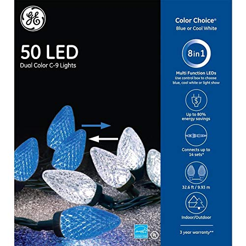 50 Ct Multi Color Led C9 Christmas Lights in US - 6