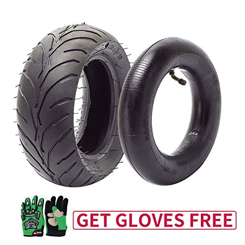 110/50-6.5 Tire and Inner Tube for 49cc Mini Pocket Rocket Bike,Thicker Tire and Tube 110 50 6.5,Free Green Gloves (110 Pocket Rocket)