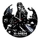 Everyday Arts X-Men Apocalypse Design Vinyl Record Wall Clock - Get Unique Bedroom or Garage Wall Decor - Gift Ideas for Friends, Brother - Darth Vader Unique Modern Art