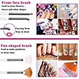 Nail Art supplies, JOYJULY 30 Striping tape & 15pcs nail art Brushes Set & 5pcs Dotting Pen & 3pcs 3D nail art Rhinestones Nail Art Kit tools accessories Decoration Diamond foil