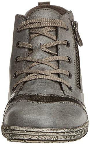 Remonte D3870, Zapatillas Altas para Mujer Gris (Negro/altsilber/asphalt)