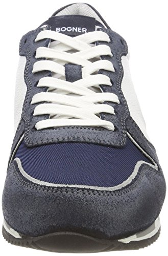 White Bogner Navy Herren New Rome 1 Weiß Sneaker 7YP487