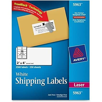 amazon com 5963 avery easy peel address labels 2 width x 4