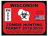 Wisconsin Zombie Hunting Permit(Bumper Sticker)